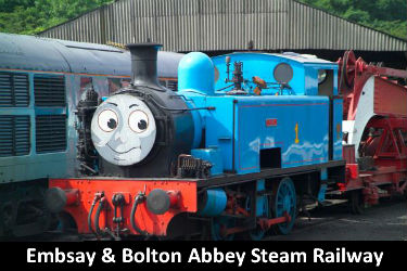 Thomas the tank engine at Embsay & Bolton Abbey