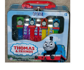 Thomas Pez Gift Set with Collectable Lunch Box!