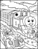 Thomas and Sir Topham Hatt coloring page