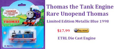 Rare Metallic Thomas the Tank Engine ERTL engine for sale