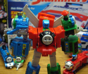 Color and unique is this Thomas Transformer Robot