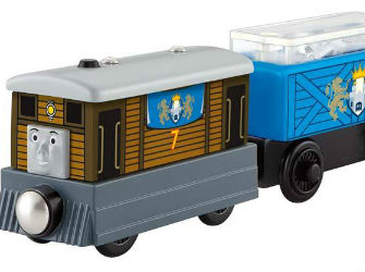 Thomas Wooden Railway Toby's Castle Delivery Y5018 by Fisher-Price