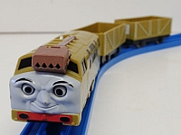TOMY Diesel 10 engine with freight cars