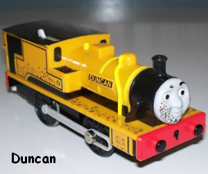 TOMY Duncan battery powered trains