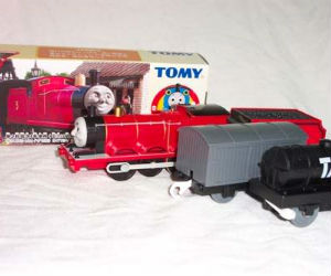 TOMY James battery powered trains
