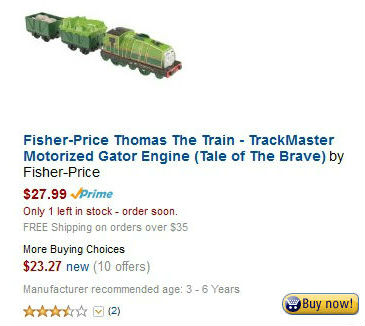 Fisher-Price Thomas The Train - TrackMaster Motorized Gator Engine (Tale of The Brave)
