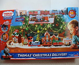 Battery operated Thomas Christmas Delivery train set