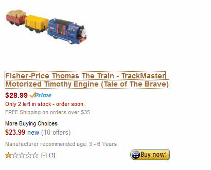 Trackmaster Timothy on sale