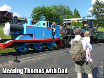 Visiting Thomas with Day at the Tweetsie Railroad
