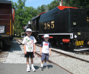 Charles and Adam at the Whippany Railroad Museum