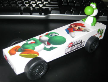 Yoshi Pinewood Derby Car by Charles 2014